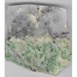 Polerowana płytka z listwenitu z chromowymi turmalinami