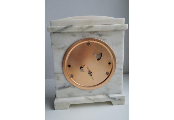 Zegar kominkowy z lazurytu i marmuru w stylu klasycystycznym